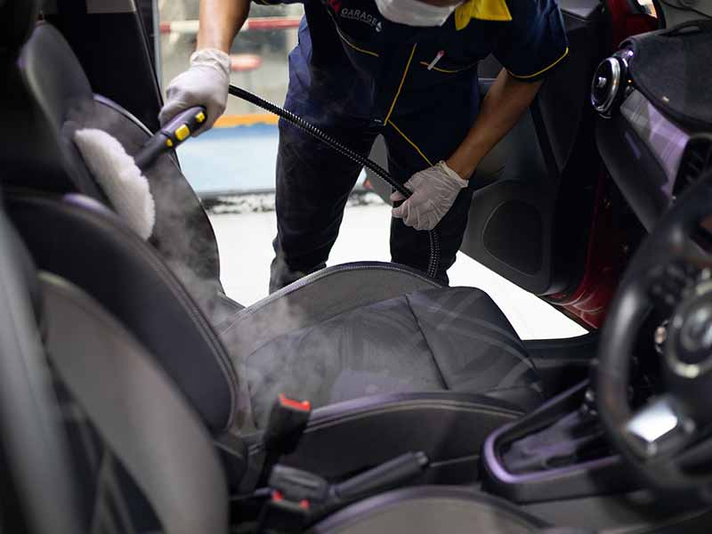 how to clean urine from a car seat