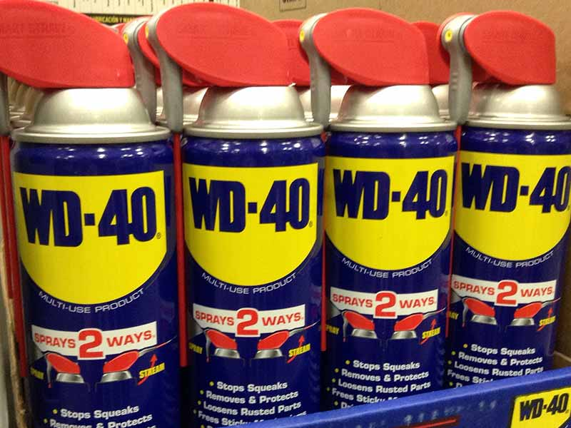 wd40 on car paint